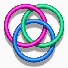Borromean rings interlocked