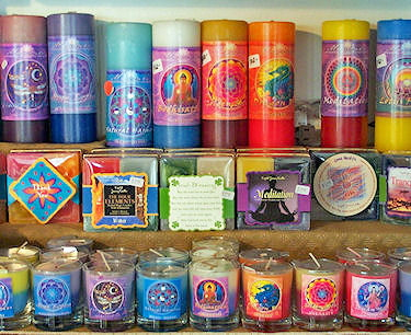 Reiki charged candles, sprititual and metaphysical gifts- available from The Mesa Creative Arts Center Gift Shop