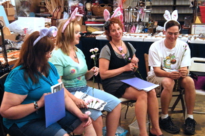 Ken Harsh crystal class at the Mesa Creative Arts Center