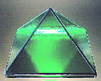 Lit up glass pyramid