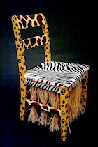 Painted Africa chair