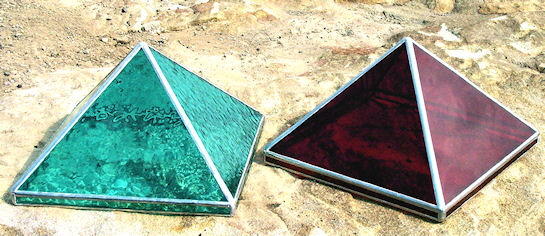 Stained glass pyramids