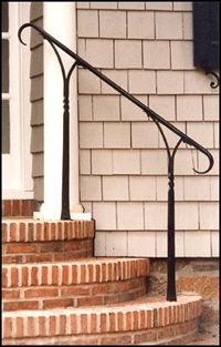 Railing on Brick Steps