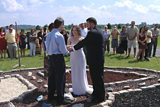 Medicine Wheel wedding ceremony